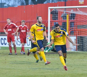 Betsy celebrates during Wokinga's 3-0 win last season