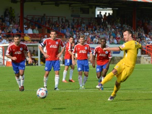 Gavin Williams scores in Woking's defeat to Aldershot Town