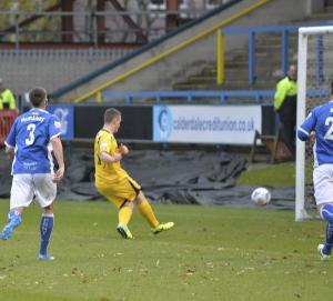 Marriott scoring at Halifax earlier in the season