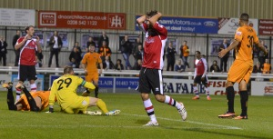 The two sides played out a goalless draw at Kingfield earlier in the season