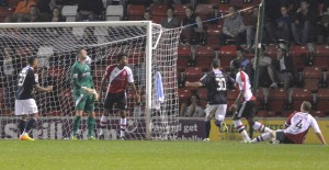 Alex Lacey scores at Kingfield as Luton win 4-0