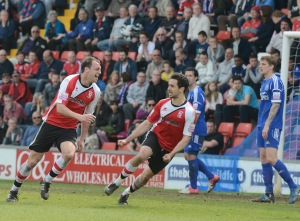 Brett Johnson scores his second goal in a week to bring Woking level on Monday.