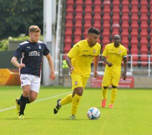 Theo makes his debut vs Falkirk last Saturday