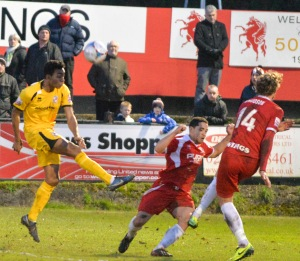 Betsy shoots as Woking lose out at Welling last season