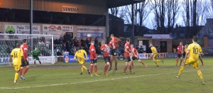 Woking and Lincoln shared the spoils at Sincil Bank last January