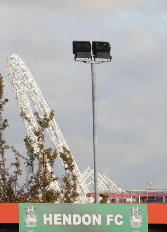 The iconic Wembley arch as seen from Hendon v Woking