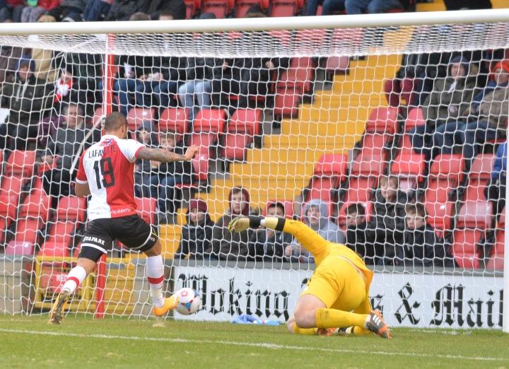 Lafayette nets Woking's second against Alfreton