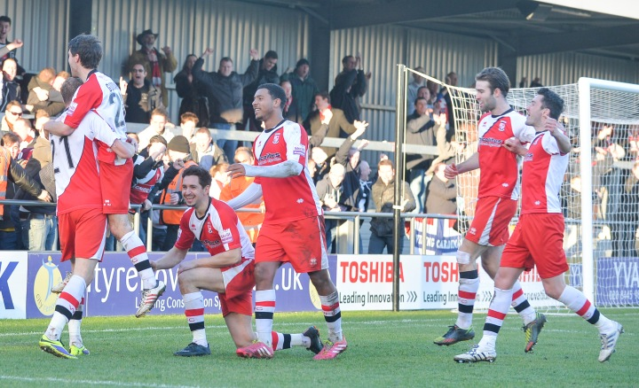 Woking take all three points from The Hive last season