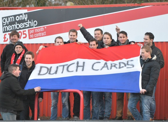 Dutch Cards at Welling United in January 2014